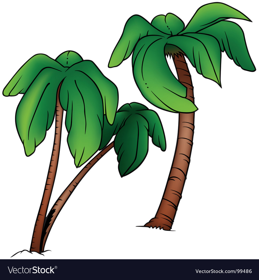 Palms vector | Price: 1 Credit (USD $1)