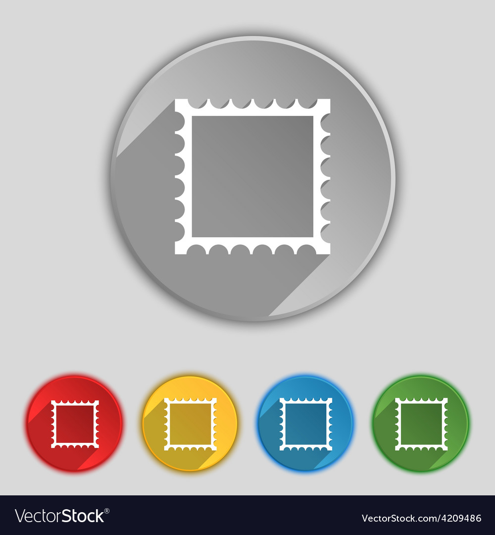 Photo frame template icon sign symbol on five flat vector   Price: 1 Credit (USD $1)