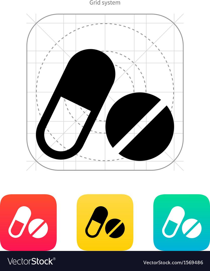 Pills icon vector | Price: 1 Credit (USD $1)