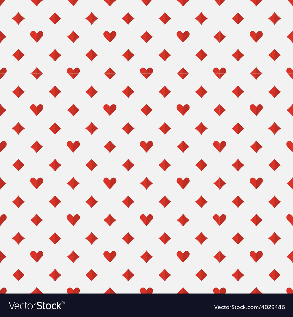 Red poker seamless pattern vector | Price: 1 Credit (USD $1)