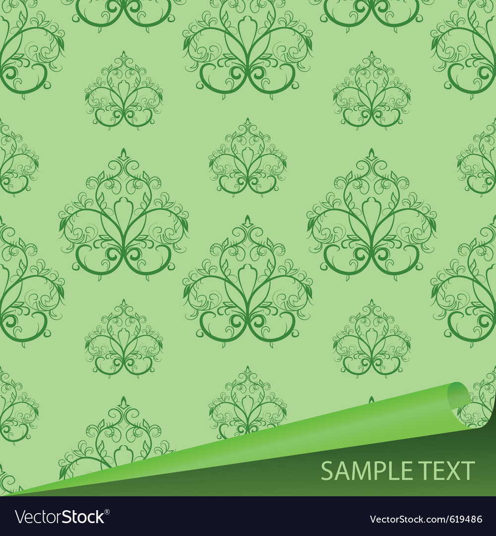 Sample of a fabric with drawing vector | Price: 1 Credit (USD $1)