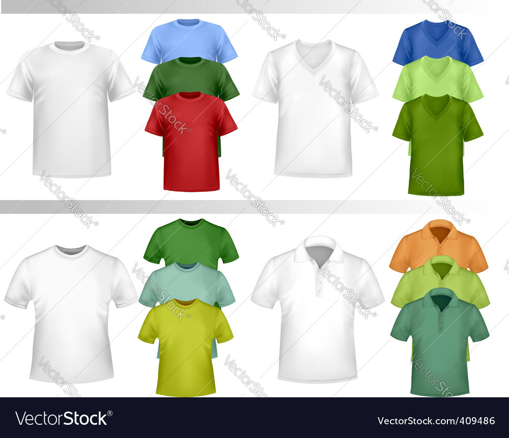 T-shirt template vector | Price: 1 Credit (USD $1)