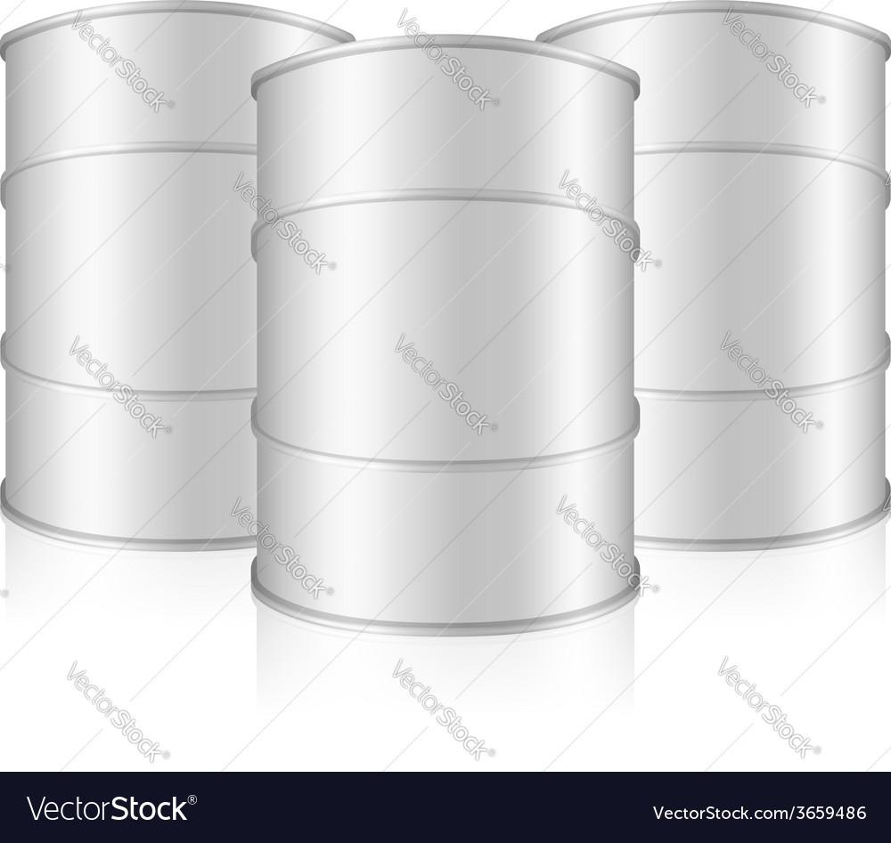 White barrels vector | Price: 1 Credit (USD $1)