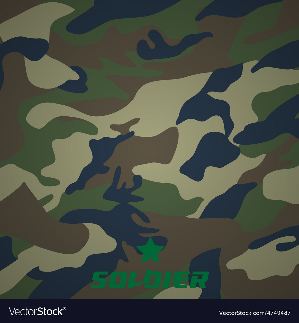 Camouflage fabric pattern shape vector | Price: 1 Credit (USD $1)