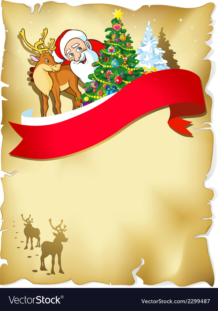 Christmas old paper vector | Price: 1 Credit (USD $1)