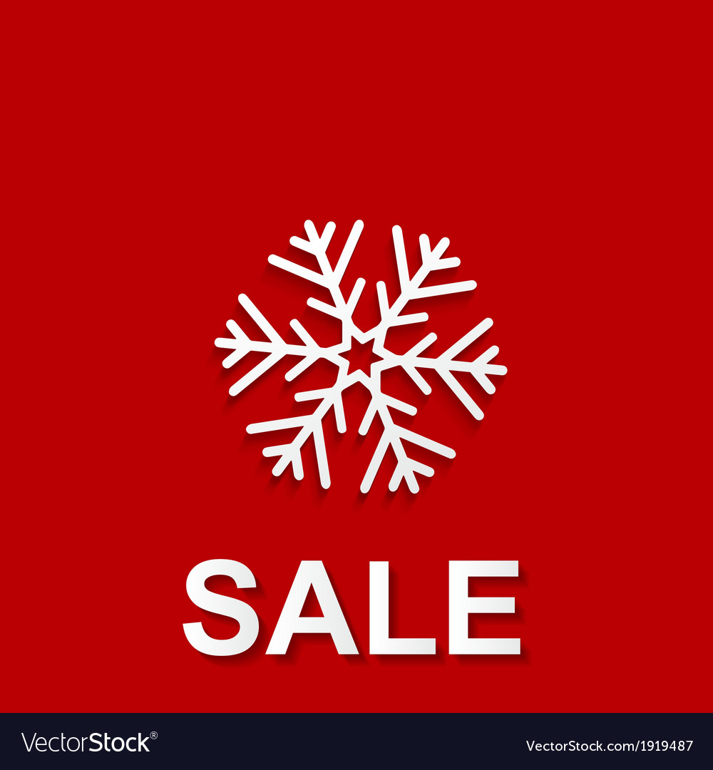Christmas sale design template vector | Price: 1 Credit (USD $1)