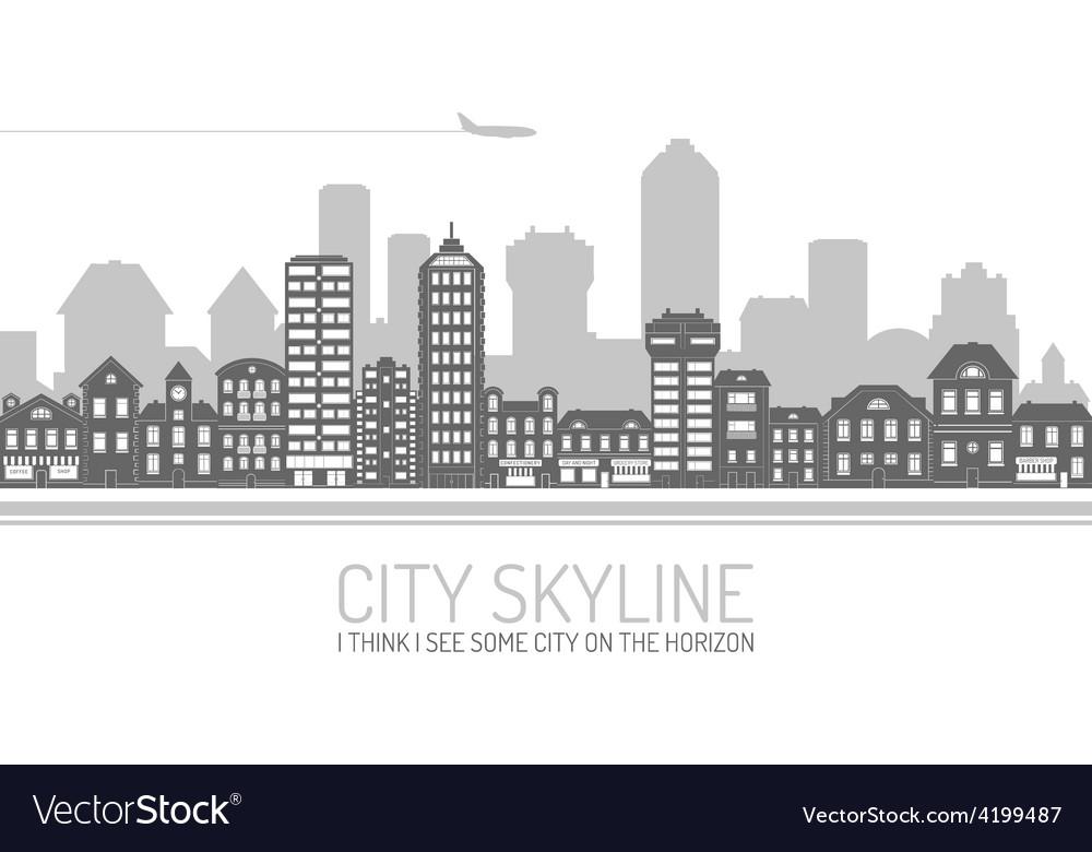City skyline black vector | Price: 1 Credit (USD $1)