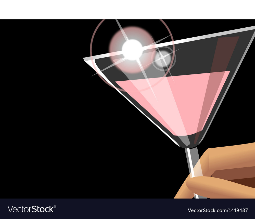 Cocktail background vector | Price: 1 Credit (USD $1)