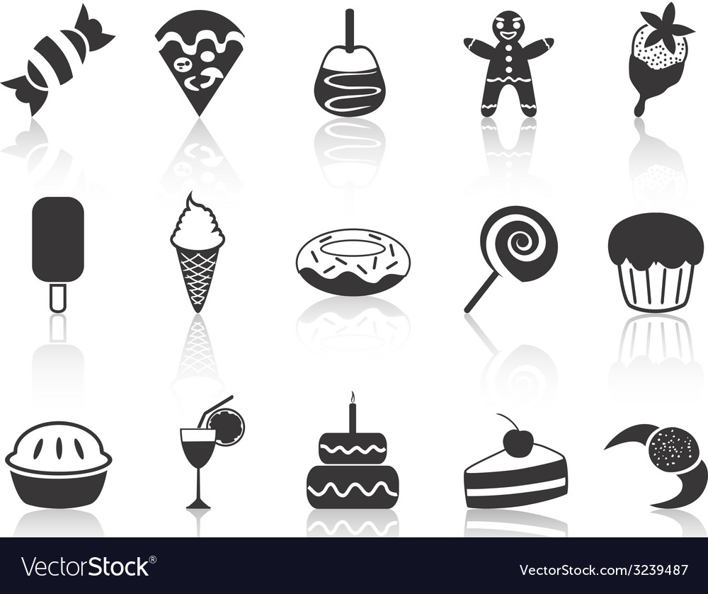 Dessert icons set vector | Price: 1 Credit (USD $1)