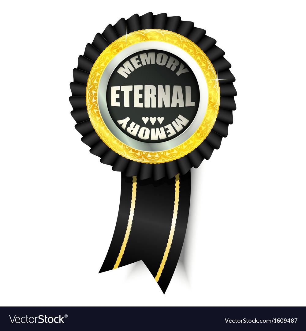 Eternal memory sign vector | Price: 1 Credit (USD $1)