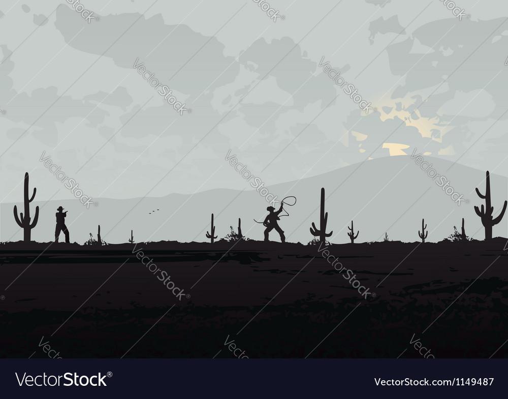 Fight beetween cowboys vector | Price: 1 Credit (USD $1)