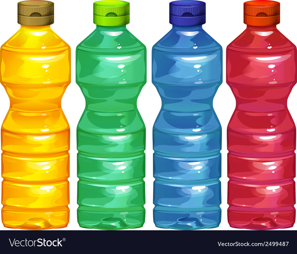 Four water bottles vector | Price: 1 Credit (USD $1)