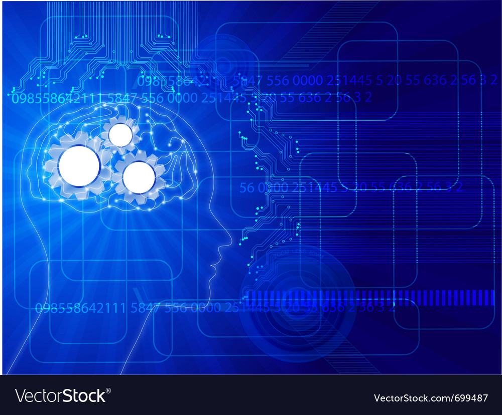 Human brain background vector | Price: 1 Credit (USD $1)