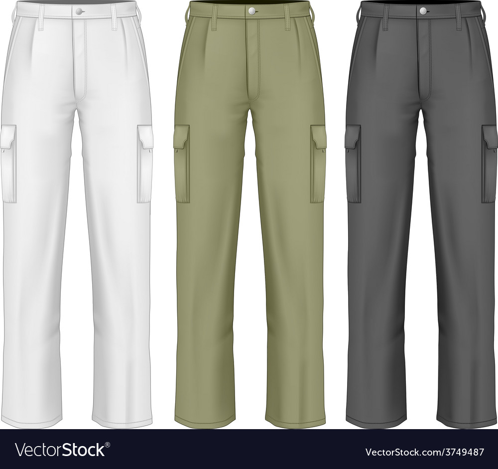 Men work trousers vector | Price: 3 Credit (USD $3)
