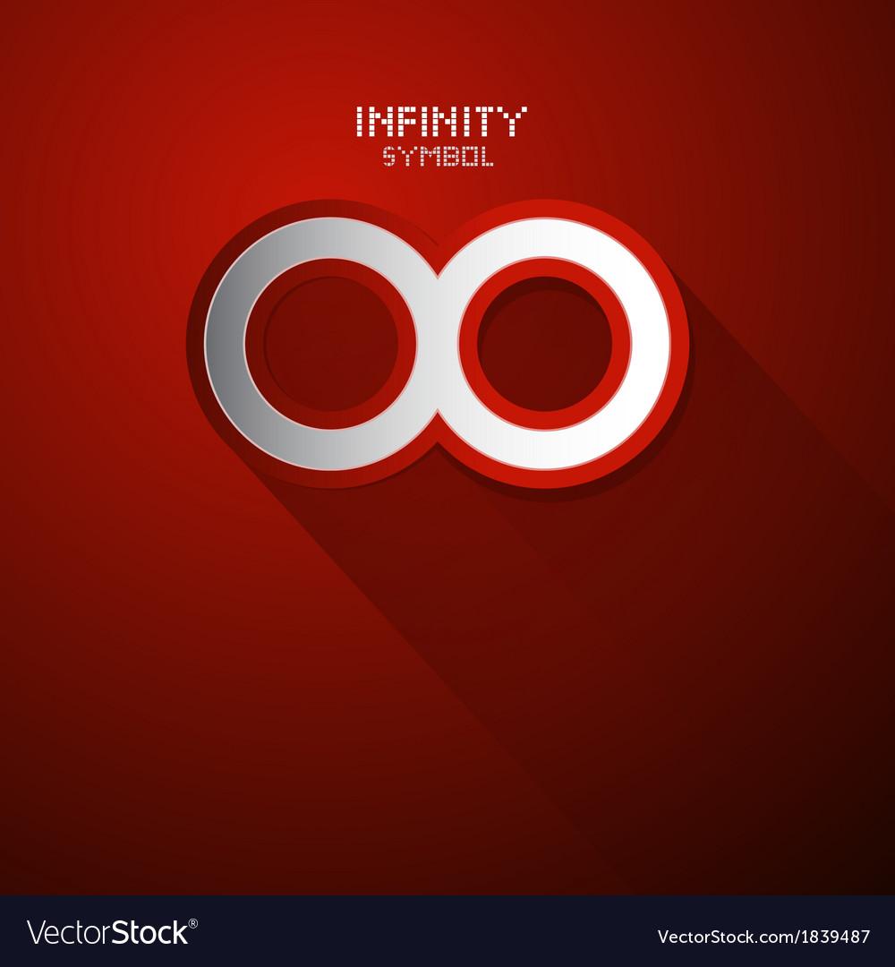 Paper infinity symbol vector | Price: 1 Credit (USD $1)
