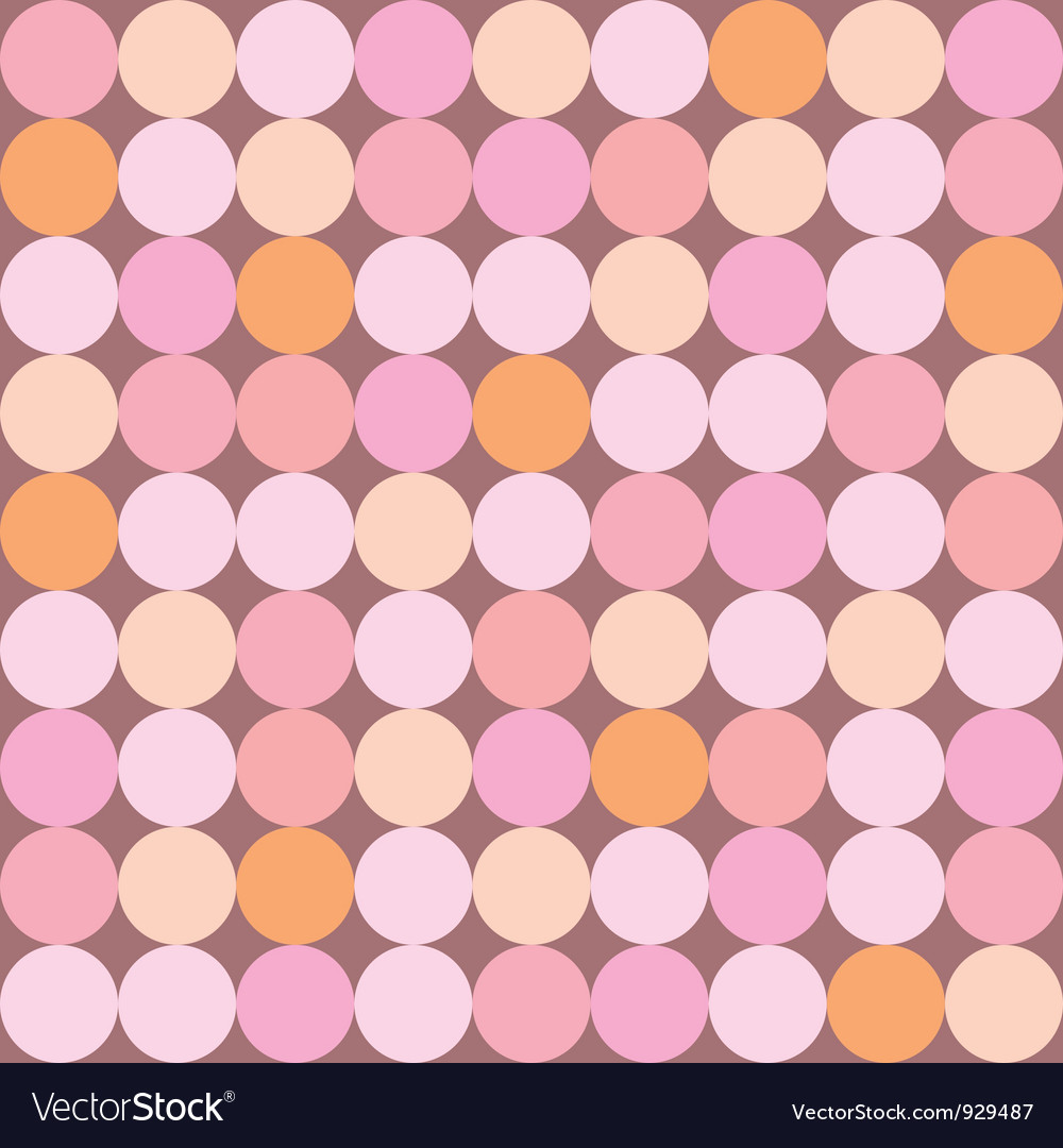 Seamless pattern or background with huge dots vector | Price: 1 Credit (USD $1)