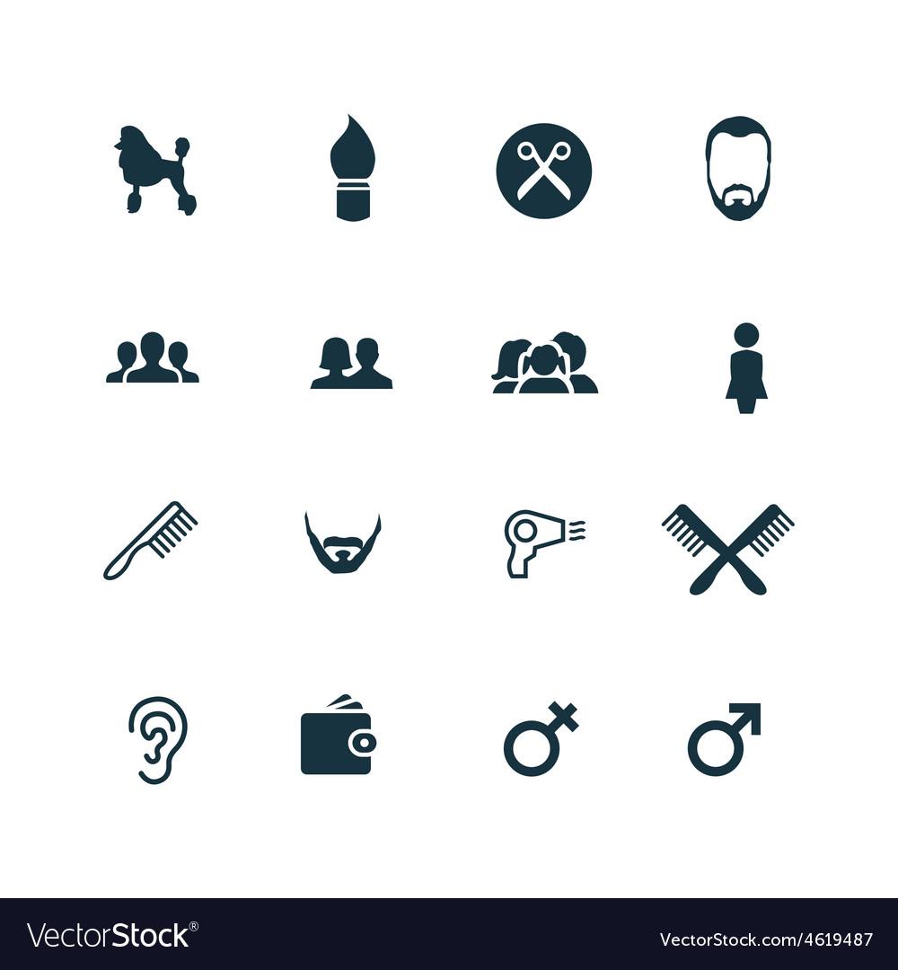 Set of barbershop icons vector | Price: 1 Credit (USD $1)