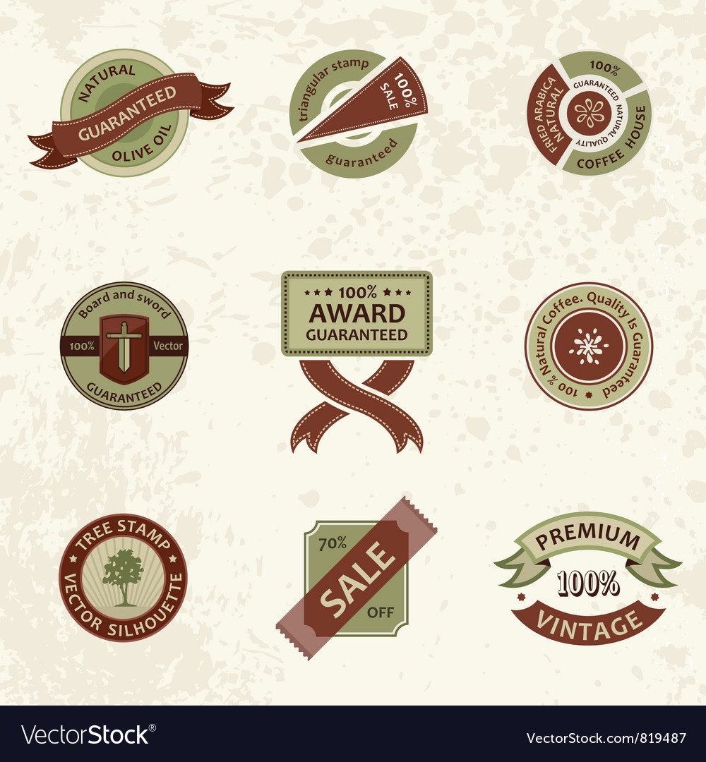Set vintage ornate decor vector | Price: 1 Credit (USD $1)