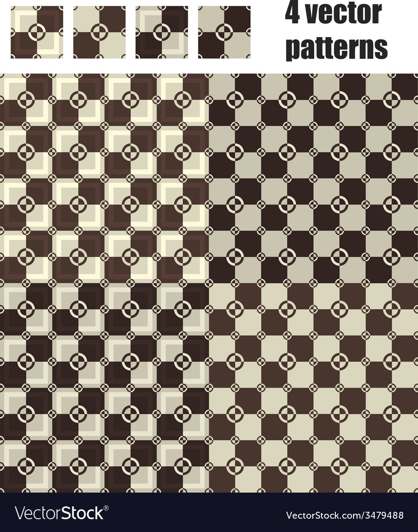 3d square and circle pattern 4x1 brown vector   Price: 1 Credit (USD $1)