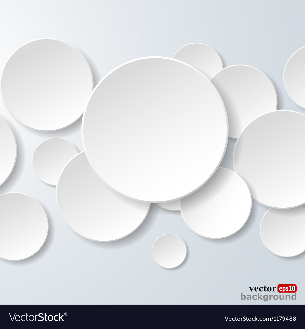 Abstract white paper circles vector | Price: 1 Credit (USD $1)
