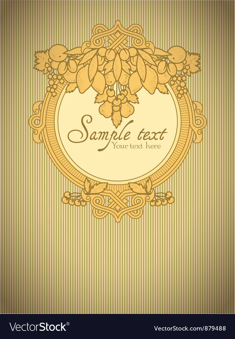 Beautiful card with fruits vector | Price: 1 Credit (USD $1)