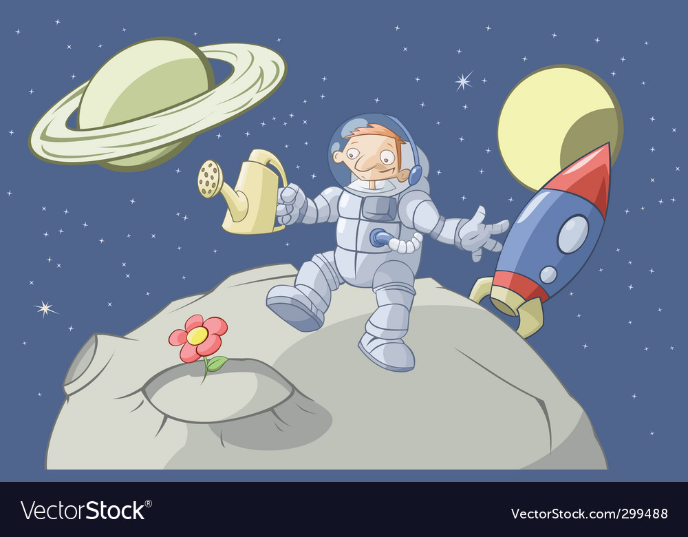 Cosmonaut vector | Price: 5 Credit (USD $5)