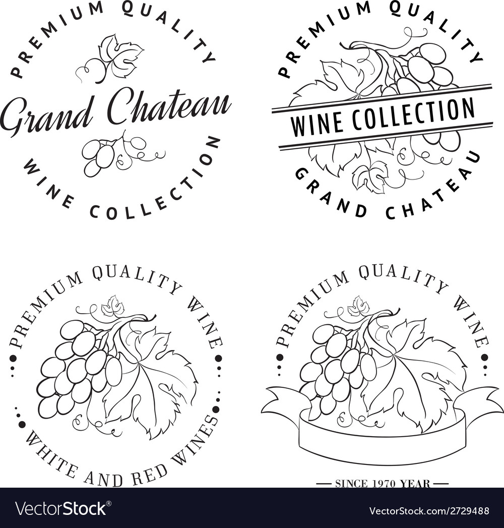 Design of logo for wine vector | Price: 1 Credit (USD $1)