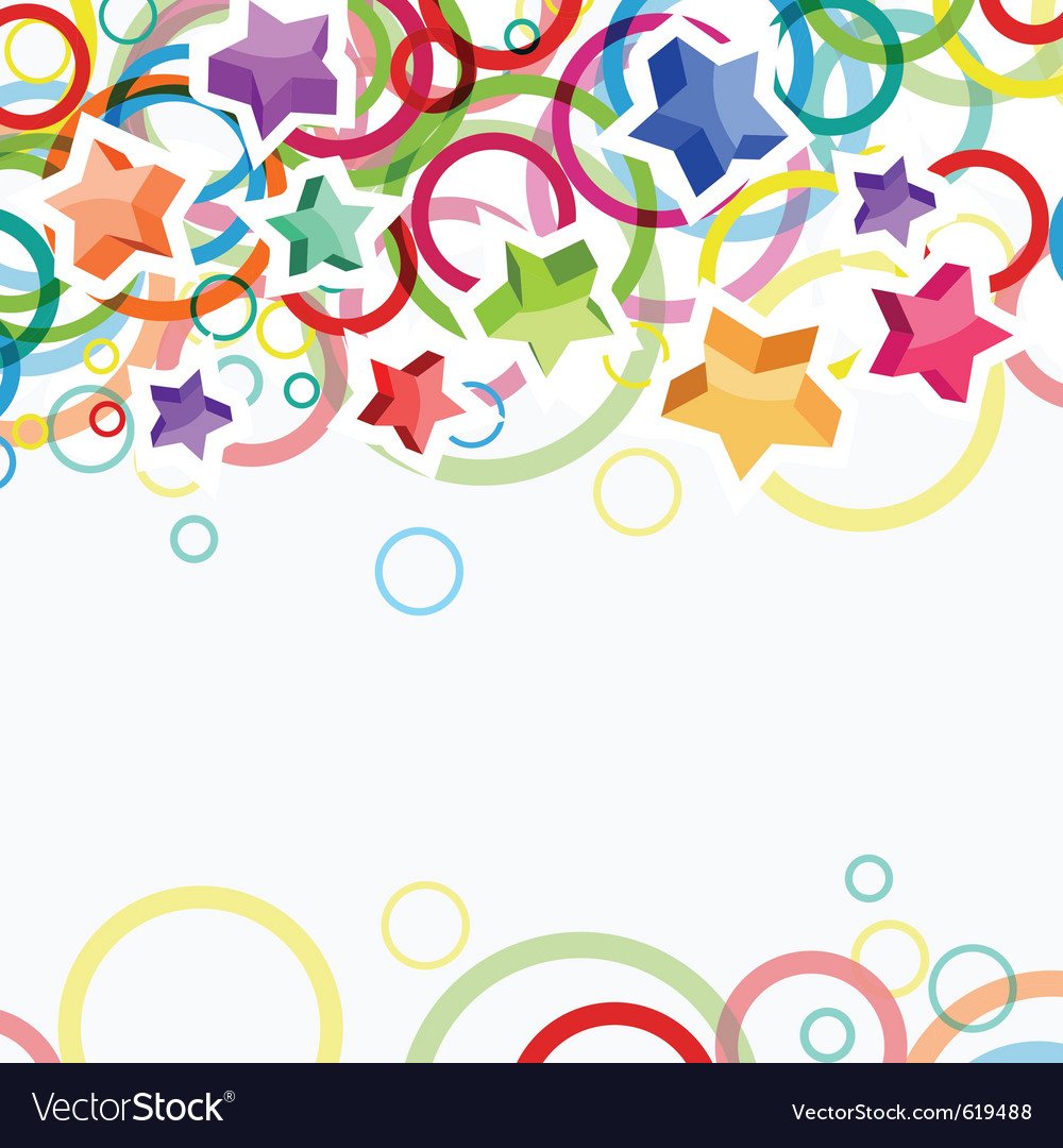 Festive background with bright stars and circles vector | Price: 1 Credit (USD $1)