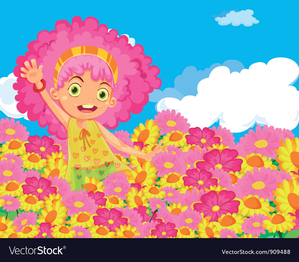 Flower girl vector | Price: 3 Credit (USD $3)
