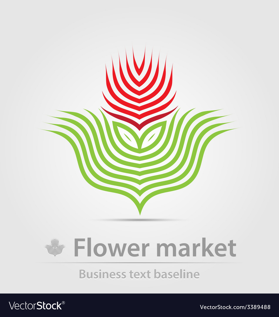 Flower market business icon vector | Price: 1 Credit (USD $1)