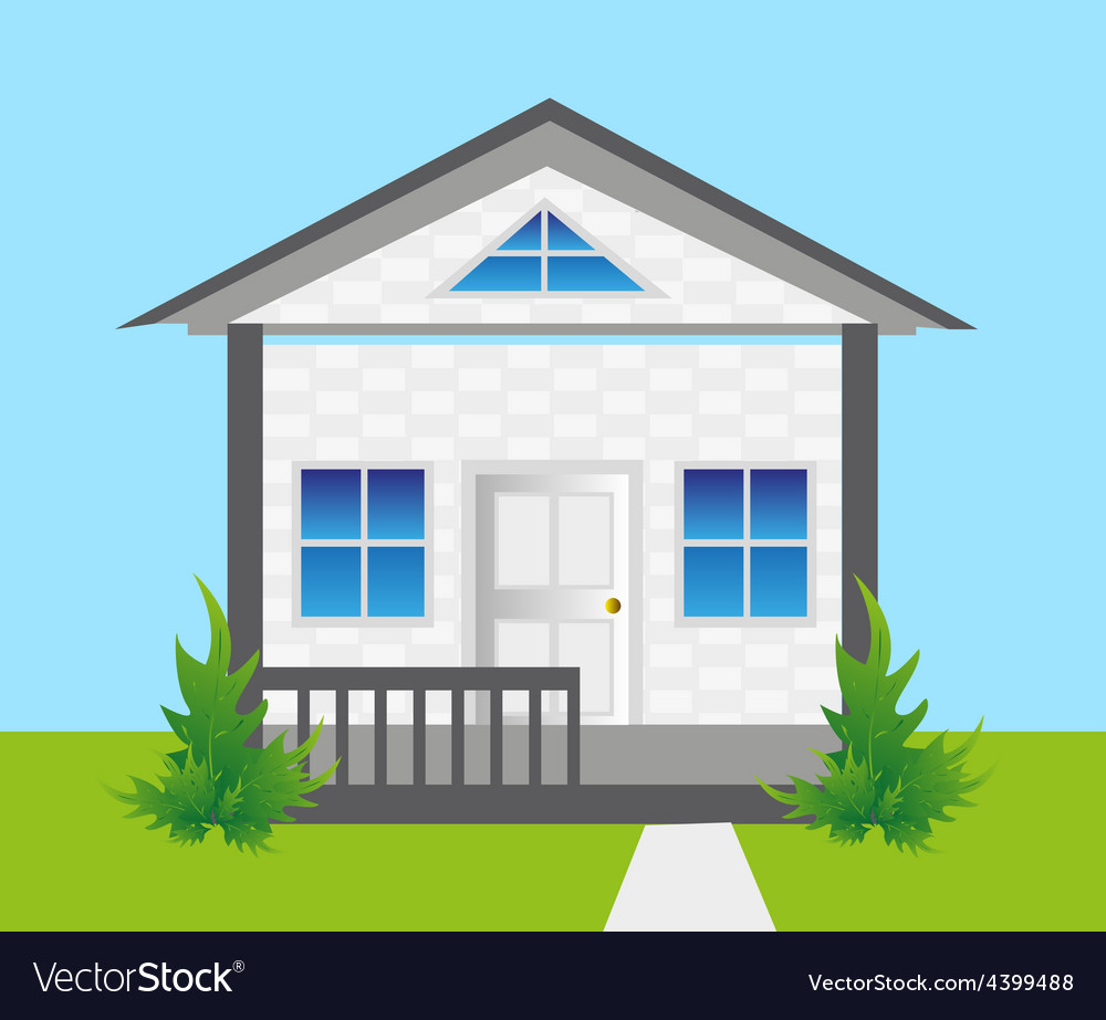 House on land vector | Price: 3 Credit (USD $3)