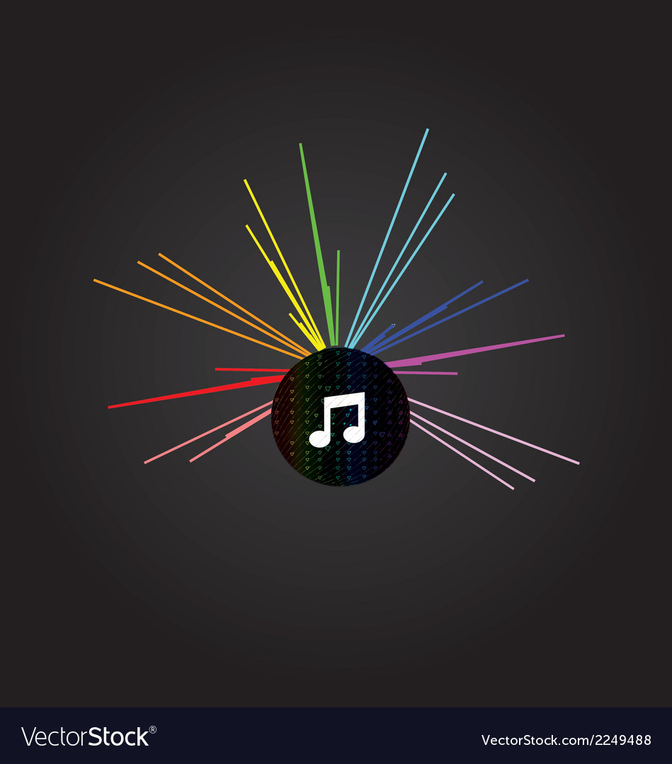 Music disco background vector | Price: 1 Credit (USD $1)