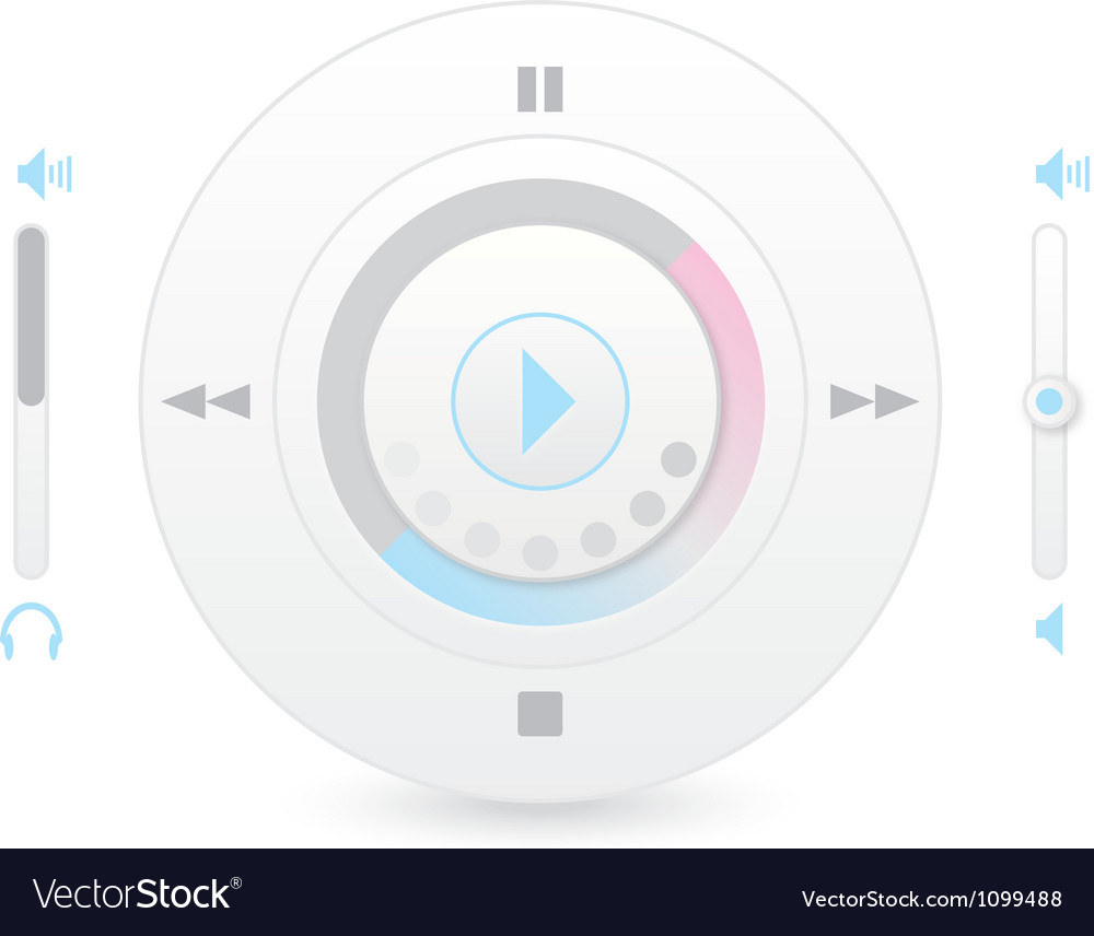 Music player control interface 2 vector | Price: 1 Credit (USD $1)