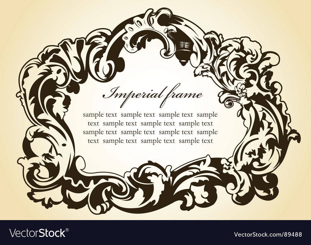 Original imperial frame imperial brown vector | Price: 1 Credit (USD $1)