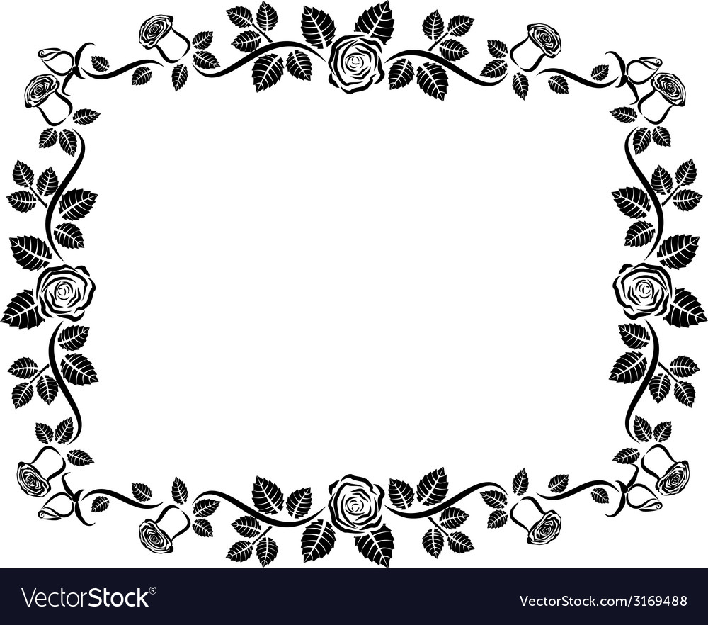 Rose frame vector | Price: 1 Credit (USD $1)