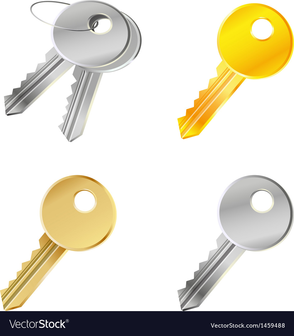 Set with keys - safety concept vector | Price: 1 Credit (USD $1)