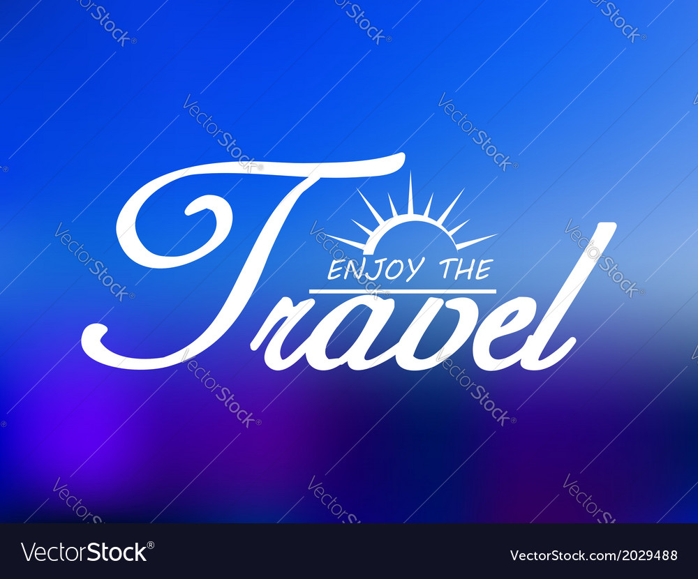 Travel header on blue sea background vector | Price: 1 Credit (USD $1)