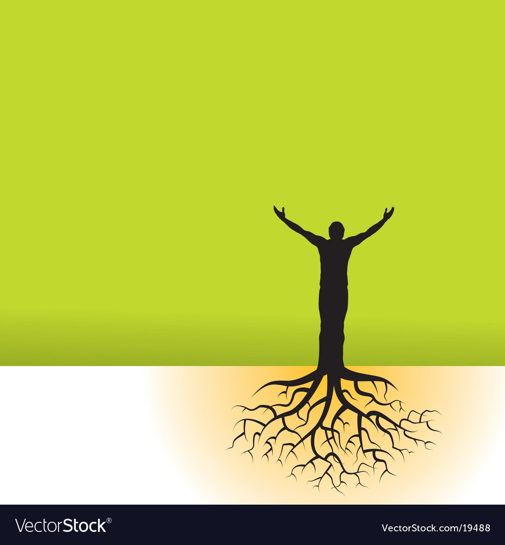 Tree man roots vector | Price: 1 Credit (USD $1)