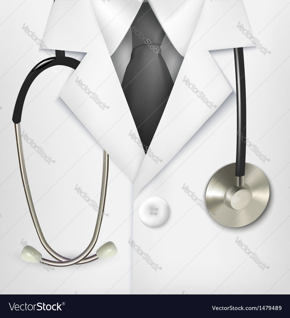 Close up of a doctors lab white coat and vector | Price: 1 Credit (USD $1)