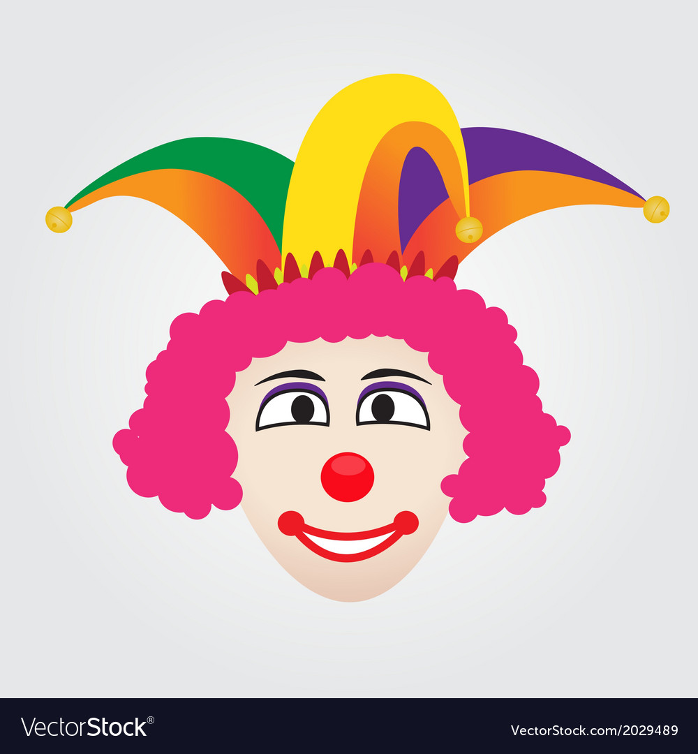 Joker face with jester hat vector | Price: 1 Credit (USD $1)