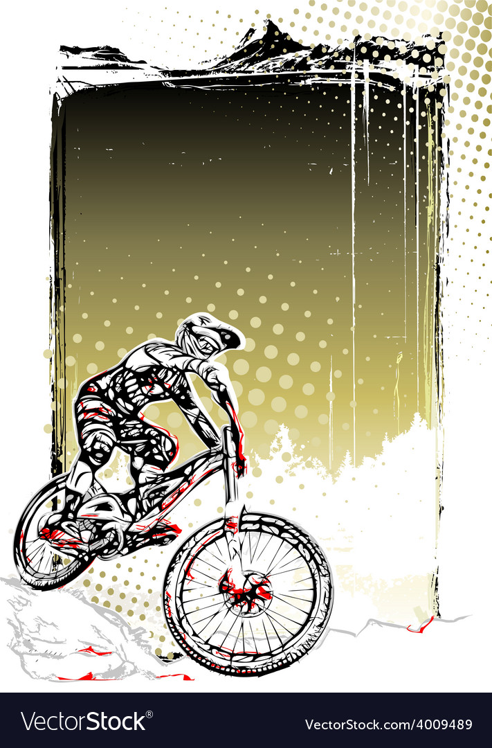Mountain bike poster vector | Price: 3 Credit (USD $3)