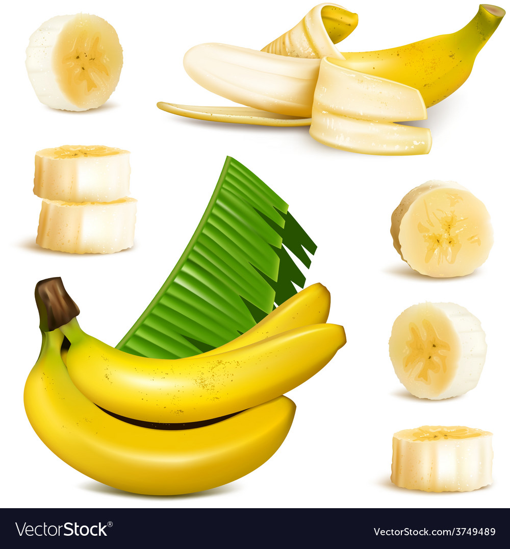 Ripe yellow banana vector | Price: 3 Credit (USD $3)
