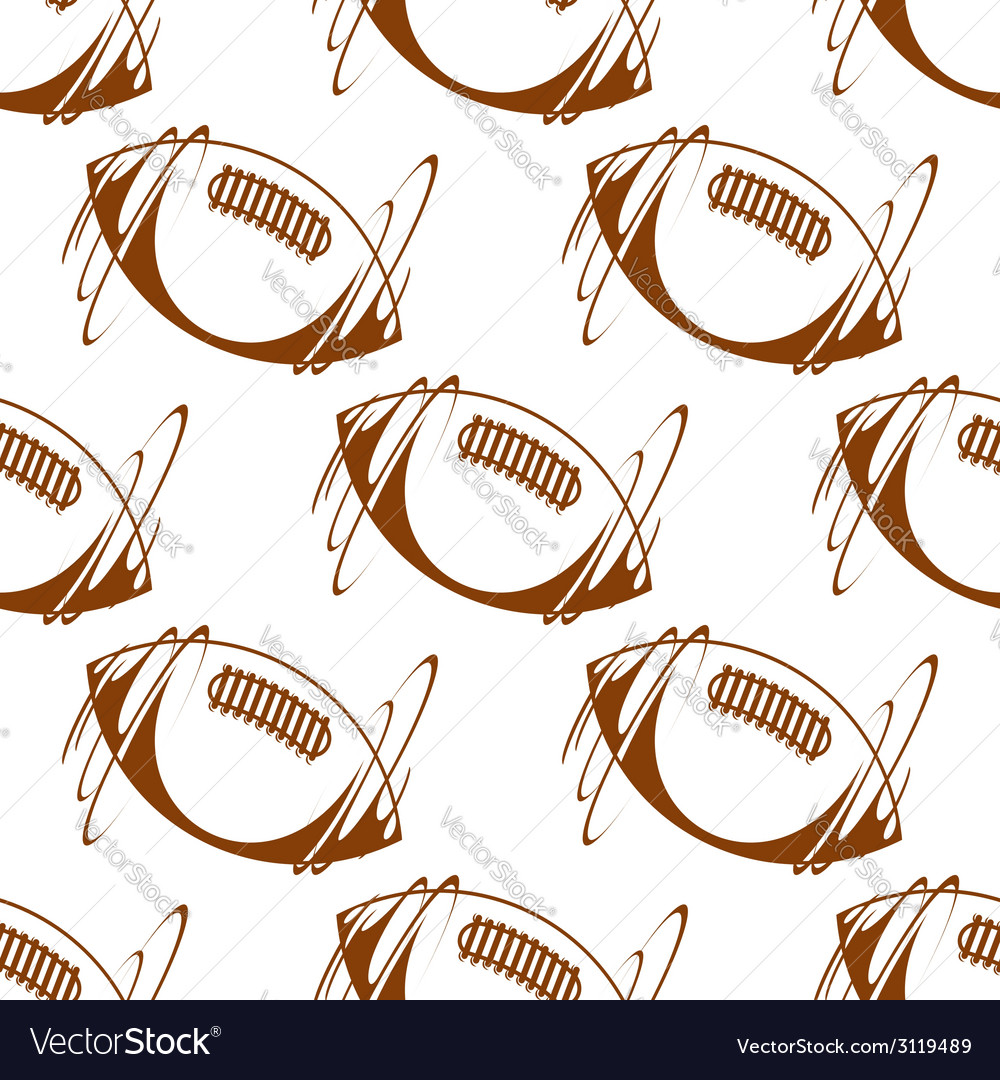 Rugby ball seamless background pattern vector | Price: 1 Credit (USD $1)