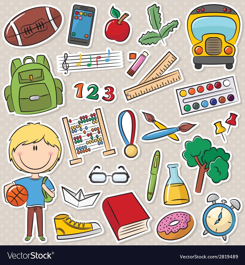 School boy vector | Price: 1 Credit (USD $1)