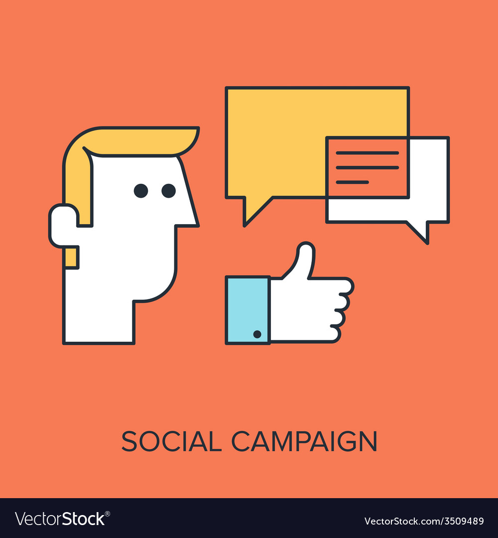 Social campaign vector | Price: 1 Credit (USD $1)