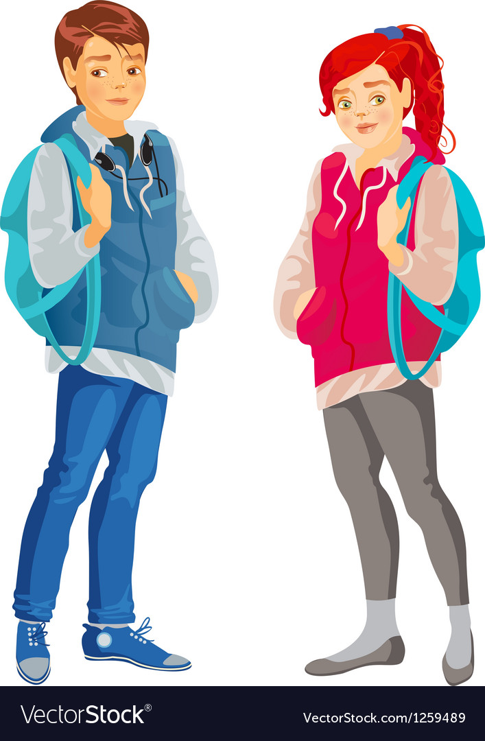 Teenager vector | Price: 1 Credit (USD $1)