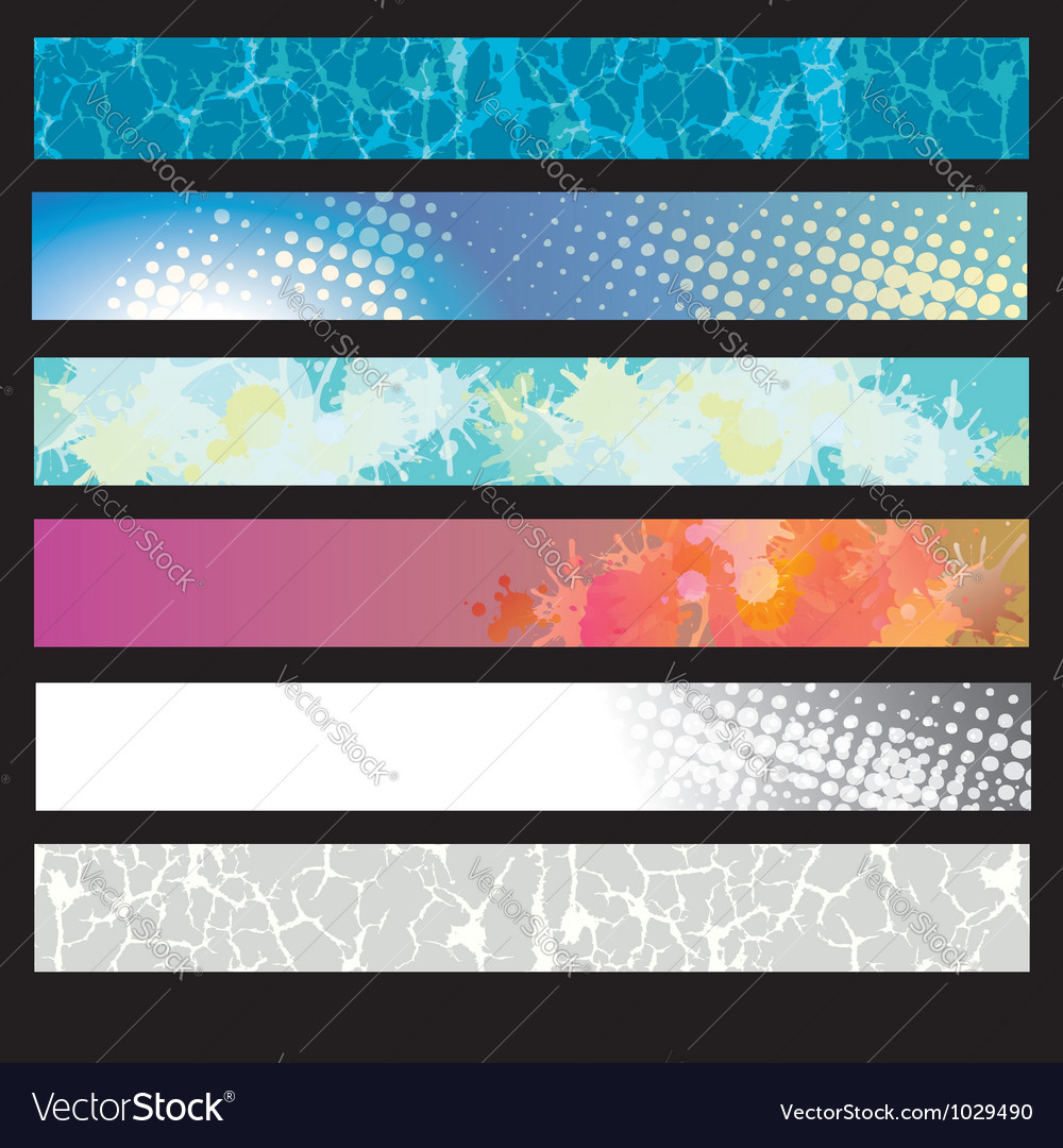 Abstract splatter pattern banner vector | Price: 1 Credit (USD $1)