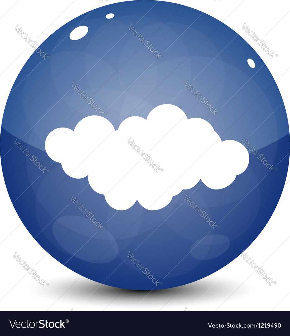 Blue cloud icon vector | Price: 1 Credit (USD $1)