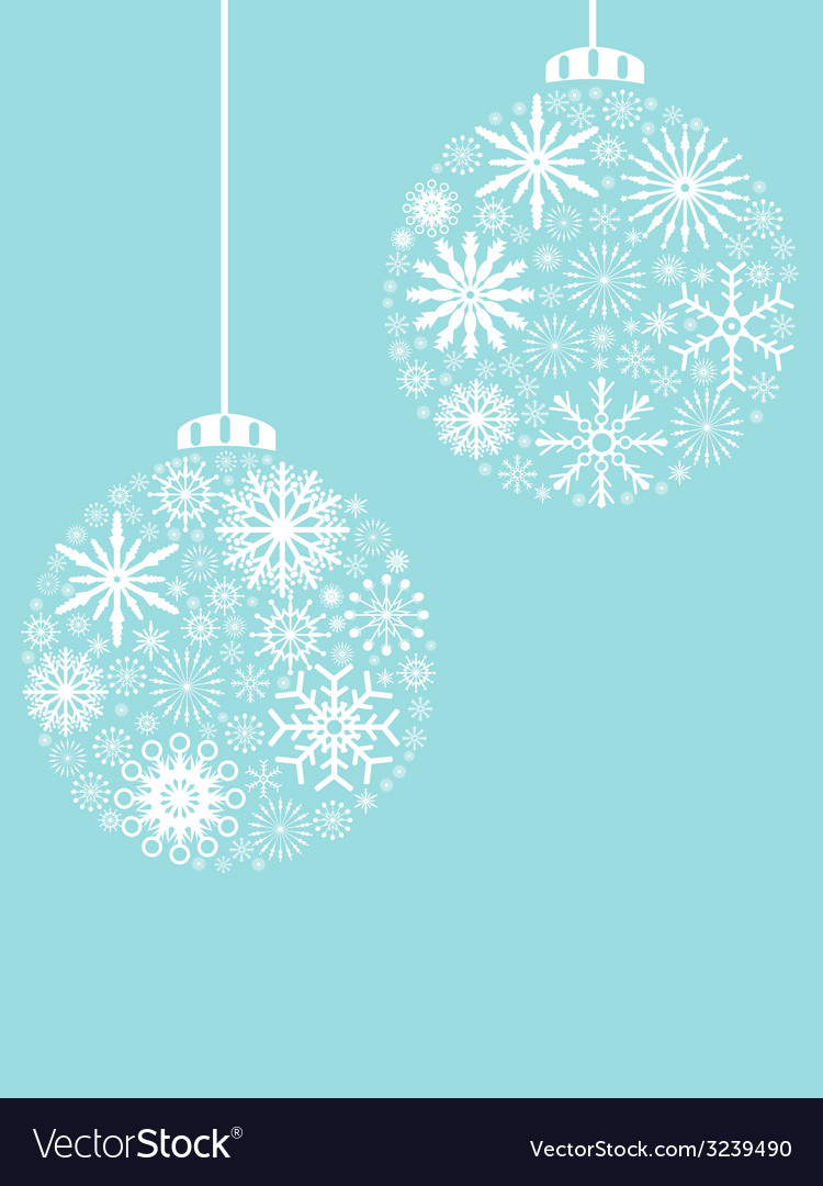 Christmas ball snowflakes pattern background vector   Price: 1 Credit (USD $1)