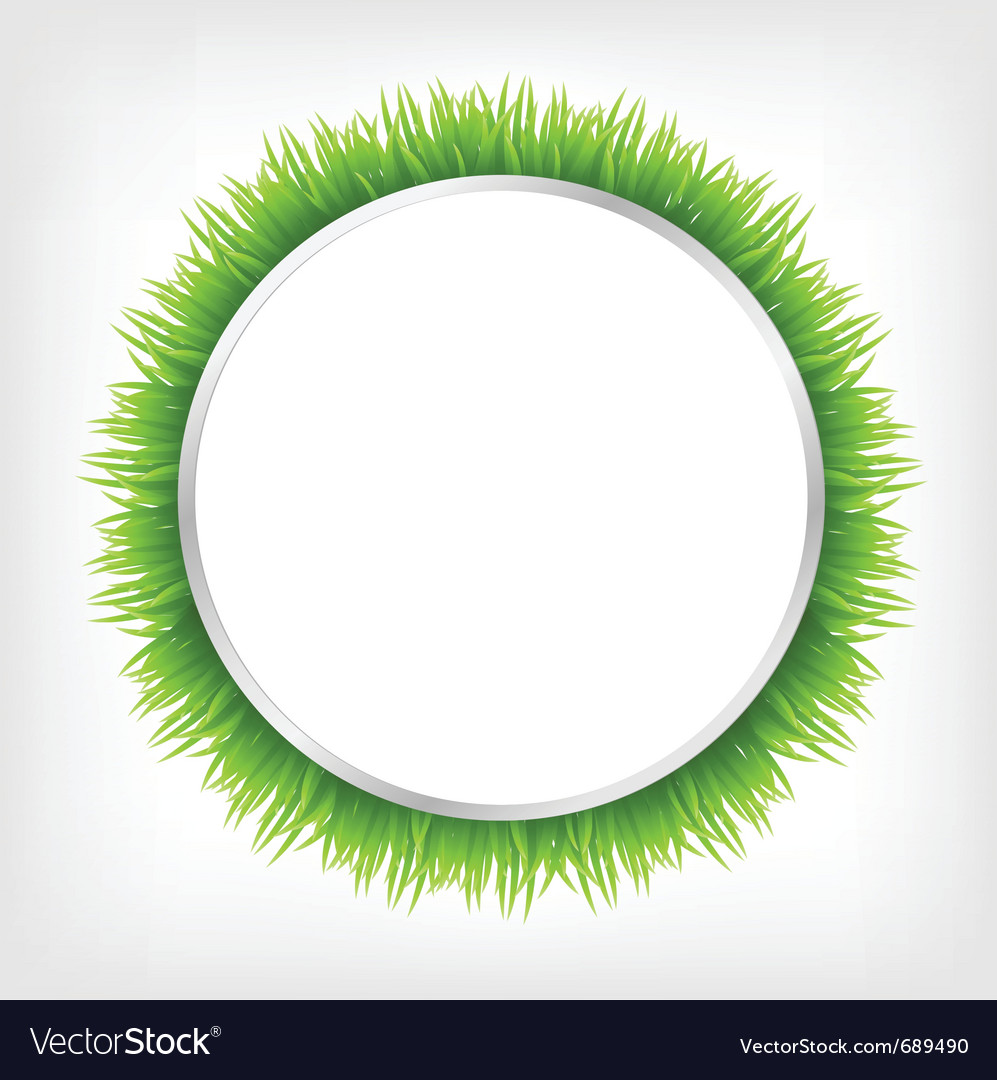 Circle with grass vector | Price: 1 Credit (USD $1)